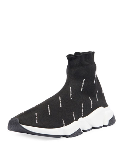 Speed Signature Mid-Top Trainer Sock Sneaker