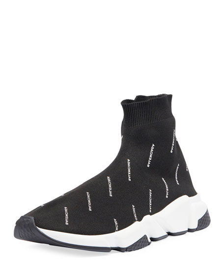 balenciaga speed trainer mens navy