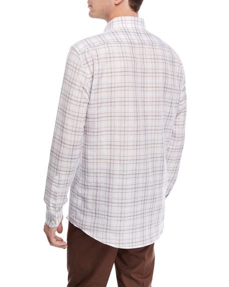 Plaid Woven Sport Shirt