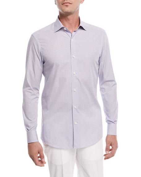 Micro-Dot Woven Sport Shirt