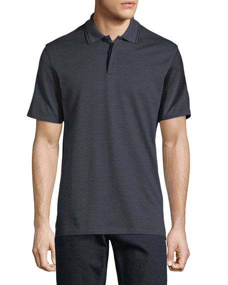 Jacquard Silk-Blend Polo Shirt