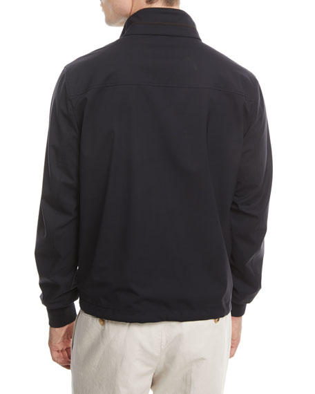 Reversible Wool-Silk Blouson Jacket