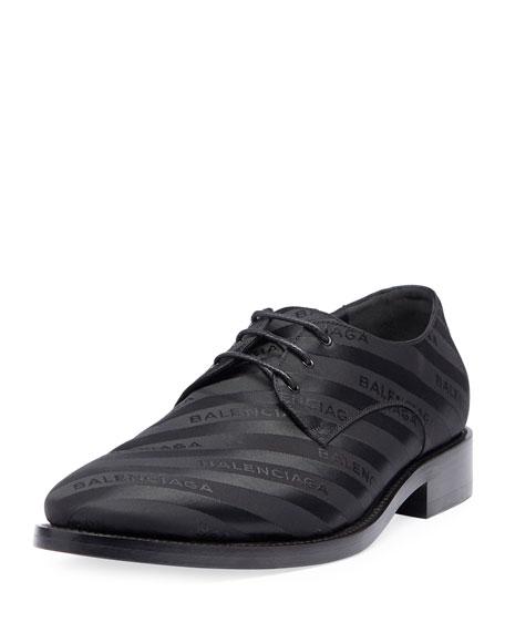 Striped Lace-Up Derby Shoe