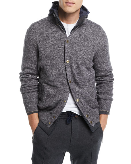 Button-Front Baseball Cardigan