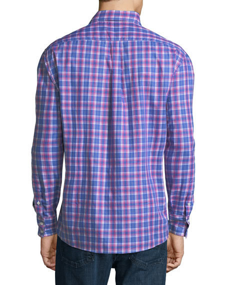 Plaid Cotton Sport Shirt