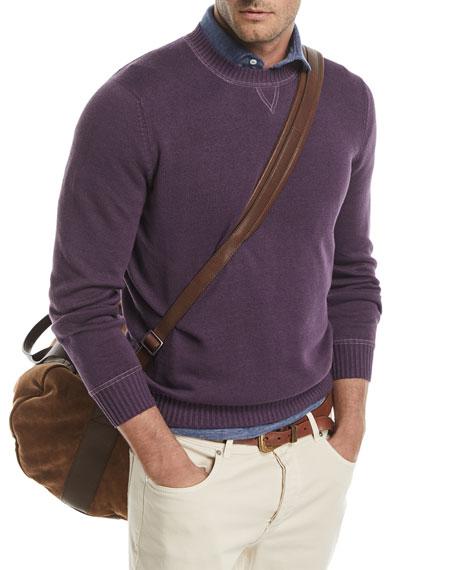 Crewneck Linen-Blend Sweater