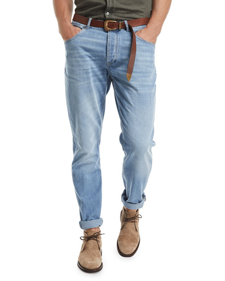 Traditional-Fit Straight-Leg Denim Jeans, Indigo
