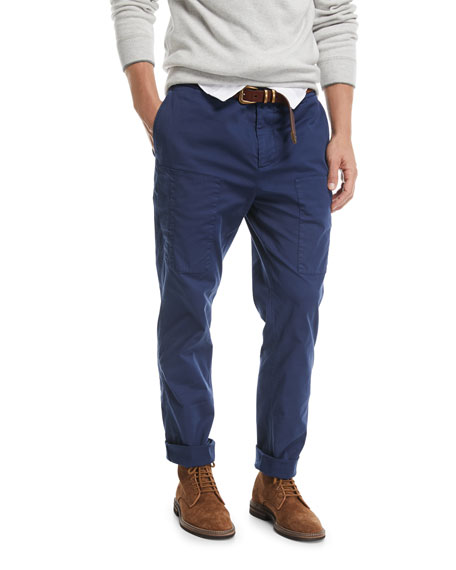 Brunello Cucinelli Mens Leisure Fit Cotton Trousers Outlet Amazon Clearance Affordable Perfect Online IOjB8FO