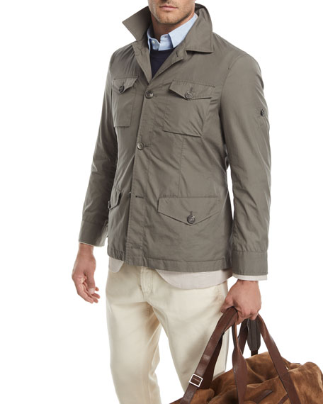 Safari Jacket with Roll-Tab Sleeves