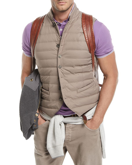 Nylon Quilted Gilet-Style Vest