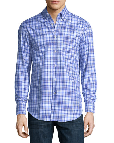 Panama Check Cotton Sport Shirt