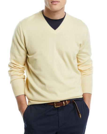 Cashmere Basic V-Neck Sweater