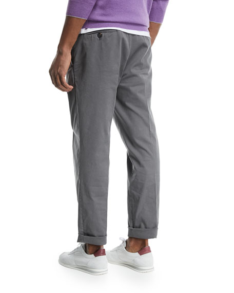 Flat-Front Twill Pants