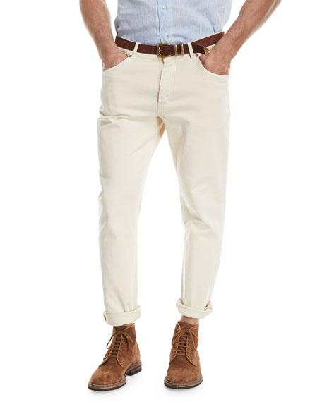 Leisure-Fit Straight-Leg Denim Jeans