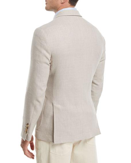 Three-Button Wool-Blend Sport Jacket