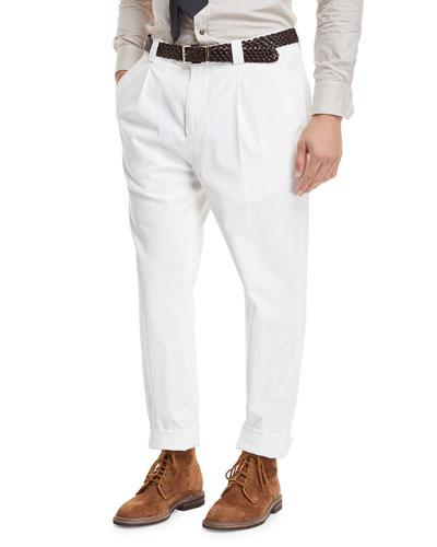 Single-Pleat Leisure Trouser Pants