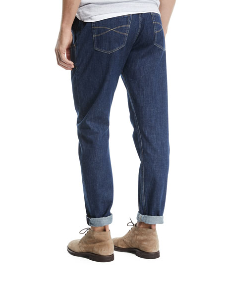 Leisure-Fit Straight-Leg Denim Jeans