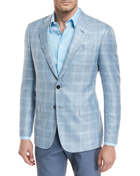 Viscose Plaid Sport Coat