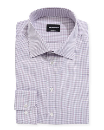 Mini Tattersall Barrel-Cuff Dress Shirt