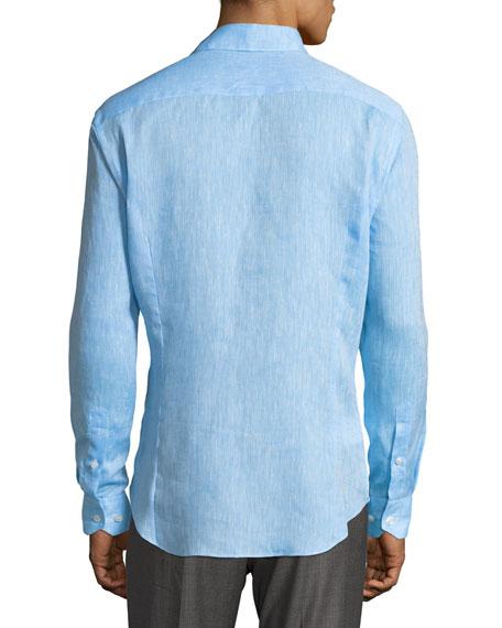 Melange Flax Linen Sport Shirt