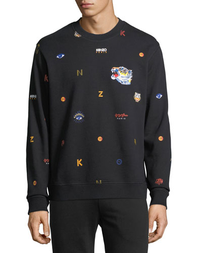Allover Tiger Logo Classic Sweatshirt