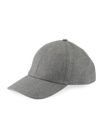 Solid Linen Baseball Cap
