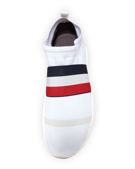 Men's Adon Mesh-Knit Stretch-Stripe Sneakers