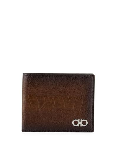 Men's Ostrich Bi-Fold Wallet