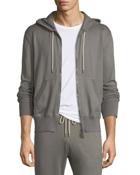Cotton-Cashmere Petrol Hoodie