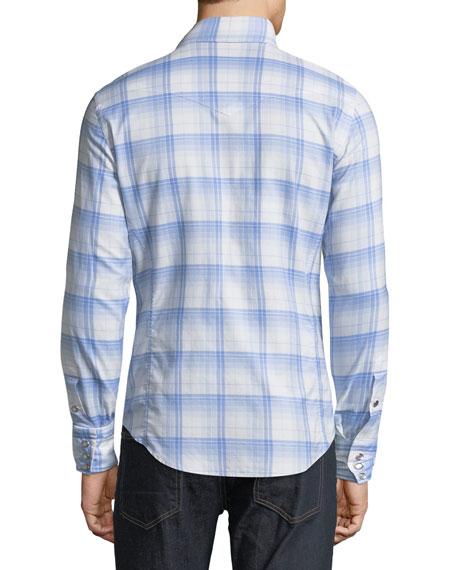 Western Plaid Cotton Sport Shirt