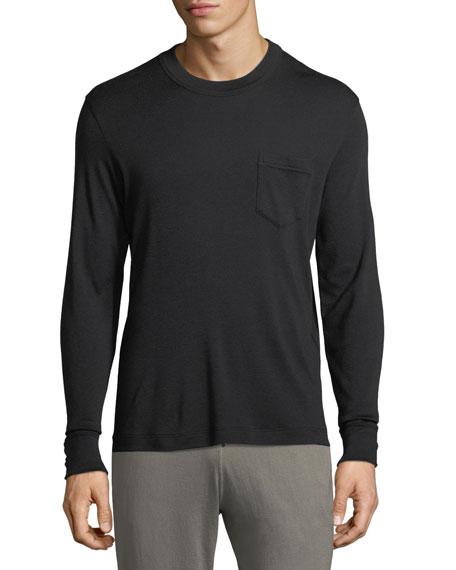 Double Cashmere Long-Sleeve Shirt