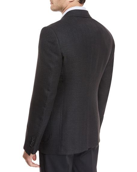 Hopsack Linen-Blend Sport Coat