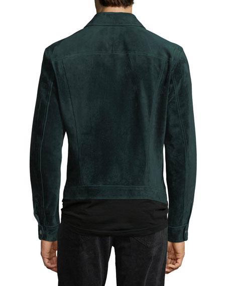 Emerald Suede Jean Jacket