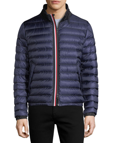 moncler blue puffer coat