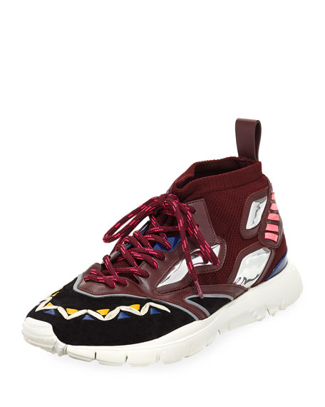 Men's Mirror Rafa Sock Lace Up Sneaker by Valentino Garavani