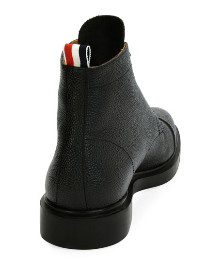 Cropped Derby Cap-Toe Boot