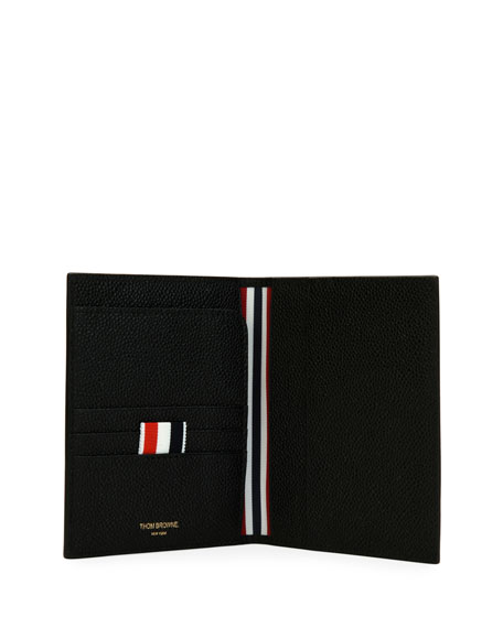 Passport Holder with Diagonal Stripe Trim