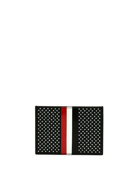 Single Card Holder with Vertical Stripes