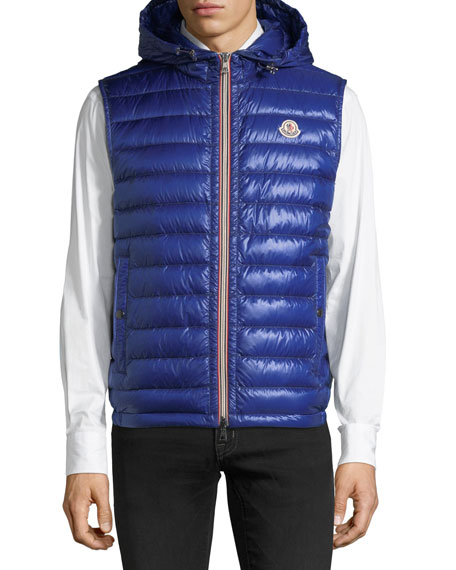 Hooded Quilted Down Gilet