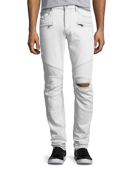 Hudson Men's Blinder Biker Distressed Skinny Jeans, Extracted