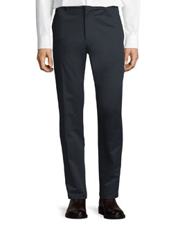 Cotton Chino Pants, Navy