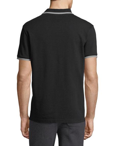 Classic Pique Patch Polo Shirt, Black