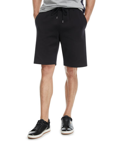 Nylon Sweat Shorts with Logo Taping