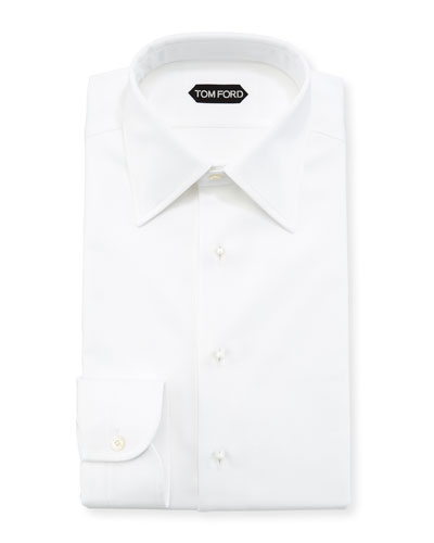 Formal Pique Cotton Dress Shirt