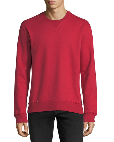 Studded-Trim Jersey Sweatshirt