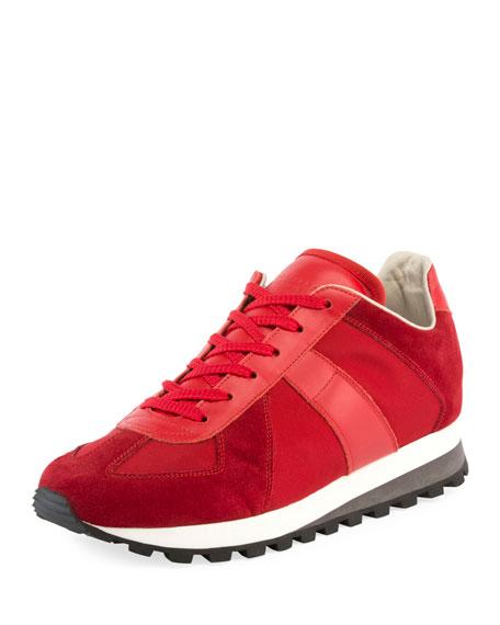 Men's Retro Runner Leather & Suede Sneaker