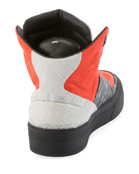 High Frequency High-Top Platform Sneaker, Multi