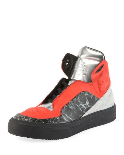 High Frequency High-Top Platform Sneaker, Multi