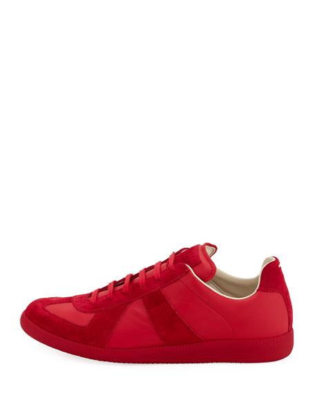 Men's Replica Leather & Suede Low-Top Sneaker