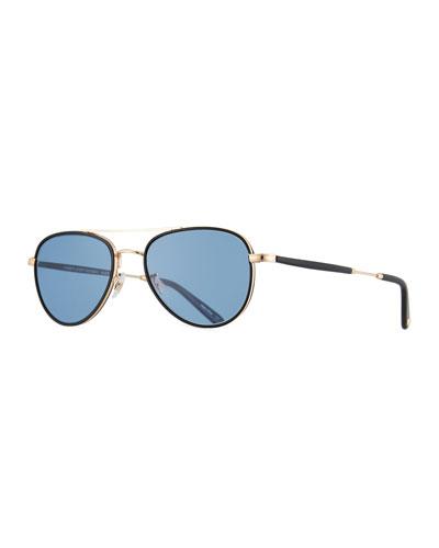 Linnie Aviator Sunglasses, Blue/Gold